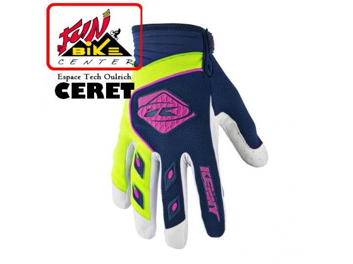 Gants Track Navy / lime