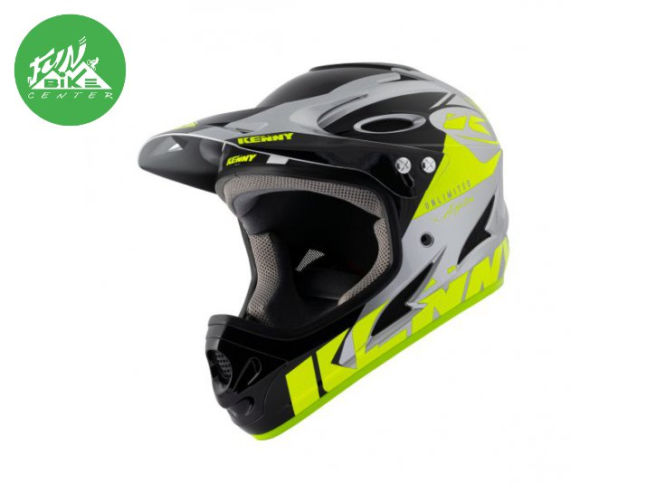 Casque Downhill Neon Yellow Silver