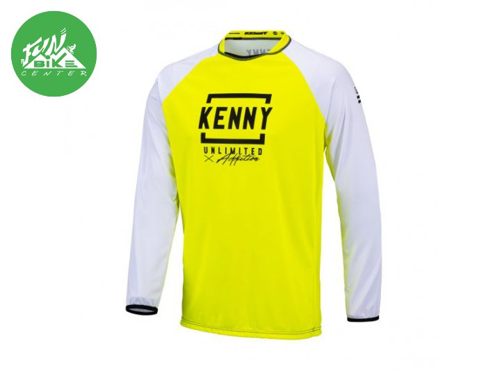 Maillot Defiant White Neon Yellow