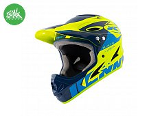 Casque Downhill Navy Neon Yellow