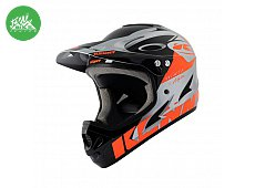 Casque Downhill Neon Orange Sylver