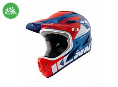 Casque Downhill Red Blue