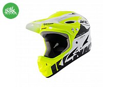 Casque Downhill White Neon Yellow