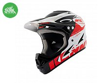 Casque Downhill White Red